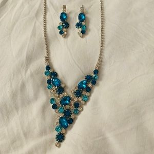 Blue Formal Jewelry Set